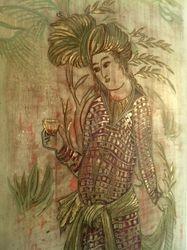 Persian miniatures, (modernised) mixed medium