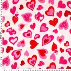 HEARTS ALL OVER B45 - FLEECE