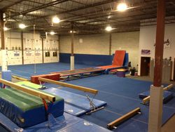 Warm-Up Area, Tumble Track and Floor