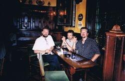 With Liutauras & Victor, Brusselles. Belgium, 2001