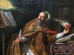 Philippe de Champaigne, St. Augustine, detail,  LACMA