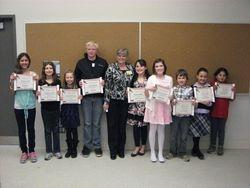 Nine Winners with Joan Daulby April, 2013