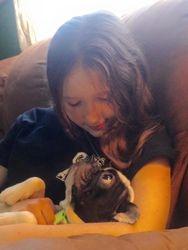 Brooke and Secret cuddling up
