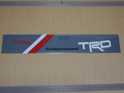 TRD Front Windshield Sticker
