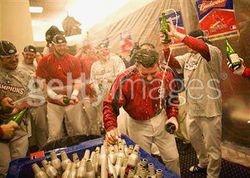 2006 St. Louis Cardinals World Series Champions Champayne Bottle