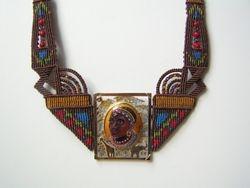 Masaii with Macramé - Sold