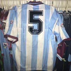Colin Foster worn 1991-92 away shirt.