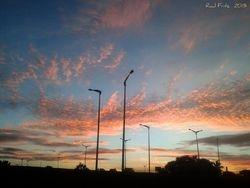 Sunset scene at Fortaleza City