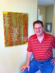 Jeff Ducan with 'Ruth 1:16-17' / A Christmas gift from his wife, Anna