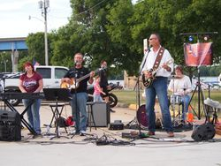 Great group shot of the band in action
