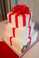 Christmas Gift wedding cake