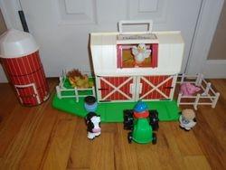 1990 Fisher Price Little People Farm Playset #2555 Barn Silo - $40