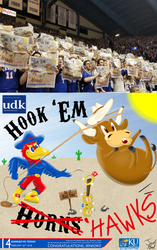 University Daily Kansan Basketball Gameday Poster - Texas 2018 - Student Section