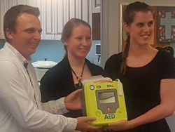 AED on site