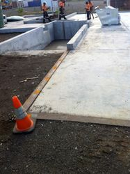 Beach Pit to service both slabs