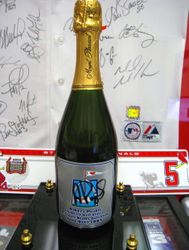 2005 Albert Pujols Autographed Golf Tourney Full Champagne Bottle