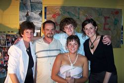 Allison with her family at her Farewell Party