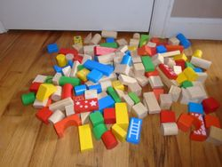 Melissa & Doug 150 Piece Wood Blocks Set - $20