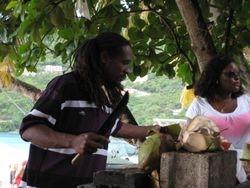 Fresh Coconut Rum Punch