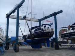 Then its off through the boatyard