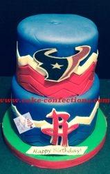 Houston Texans / Rockets Cake