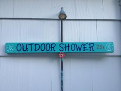 Outdoor Shower Sign