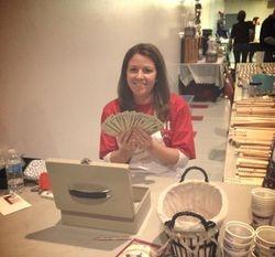 Mandy workin' the cash box