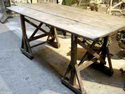 #16/121 Pine Trestle Table SOLD