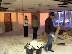 Pastor making inspection of progress