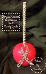 Cancer awarness Candy Apple