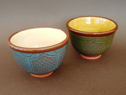 "Coloured Bowls 5"" diameter"