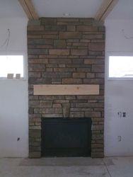 Cultured stone fireplace Denver Colorado
