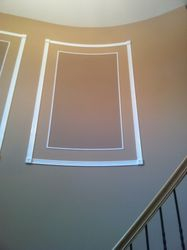 Custom trim in foyer