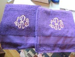 Monograms on Towels
