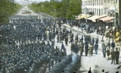 Troops marching in Washington D.C.