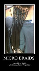 Box Braids with Human hair by Bee