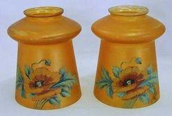 (Enameled) European Poppy lamp shades, marigold