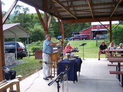 Pete Boozel Leading in worship