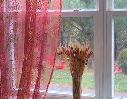 Circle Embroidered Organza Sheer Curtains & Panels