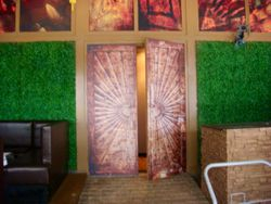 Large abstract print for club entrance
