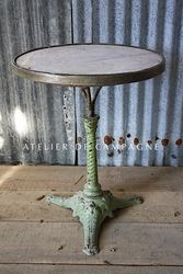 #27/121 FRENCH BISTRO TABLE MARBLE TOP