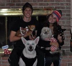 Mia, Harlow, Bella and Mr. Hershey