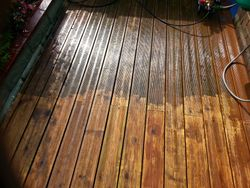 Decking - during cleaning