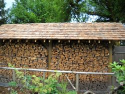 Wood shed construction
