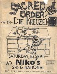 1982-09-18 Niko's, Milwaukee, WI