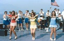 Navy band entertaining the fleet