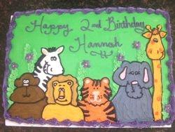 Zoo/ Safari Animal Cake