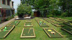 Front view 18 hole putt putt course