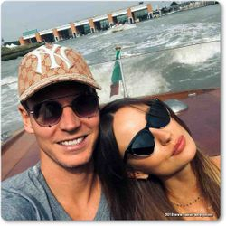Tomas and Ester Berdych in Venice, Italy