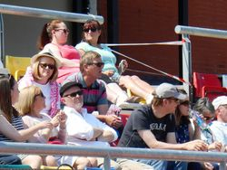 THE KELLY FAMILY AGAIN ENJOYING THE GAME IN THE SUN